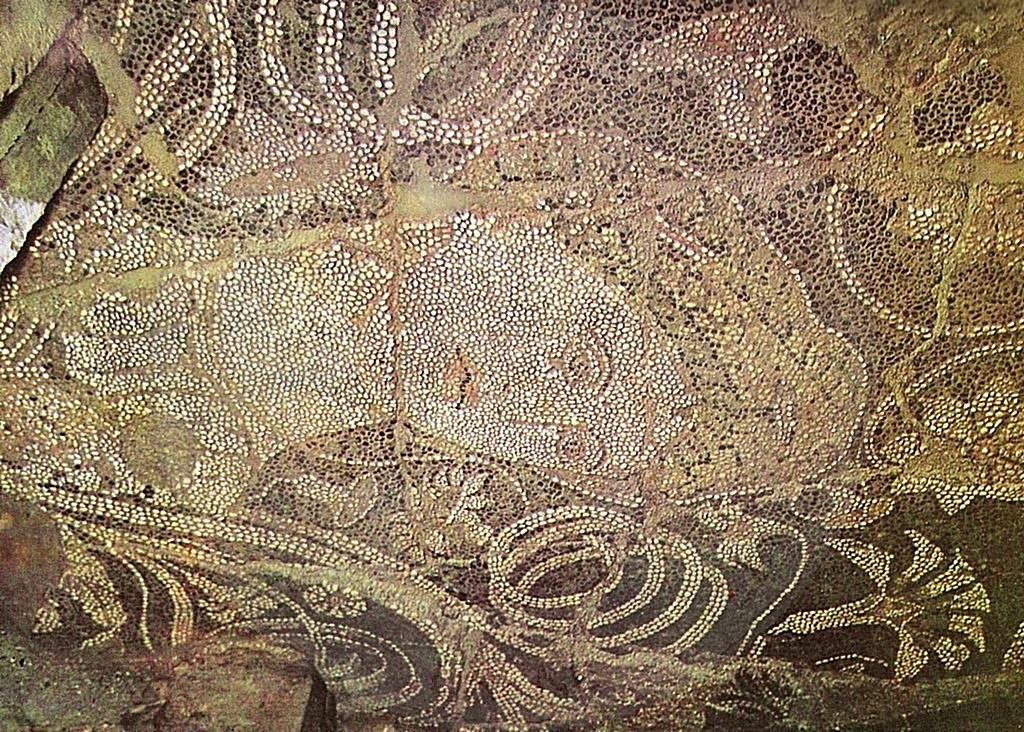 17th, October,  2000, mosaic of IV century in Mallakastra