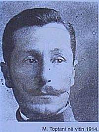 28th October 1897, was imprisoned by ottomans the patriot Murat Toptani