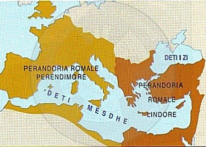 1 November 395, the separation of the Roman Empire