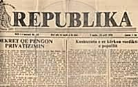 "24th October 1923, the first issue of the newspaper ""Republika"""