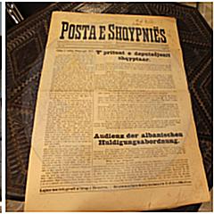 15 Nëntor 1916, numri i parë i gazetës Posta e Shqipërisë