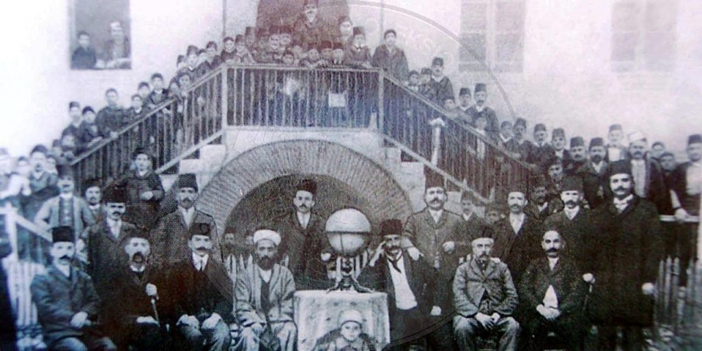 1st, October 1909, was established the Normal School of Elbasan