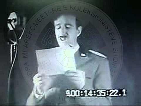 28 November 1938, the inauguration of Radio Tirana, the speech of King Ahmet Zogu