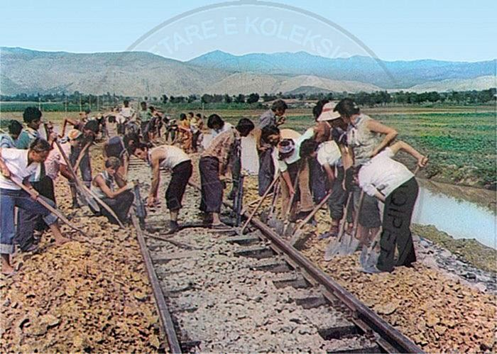 7 November 1947, Durres-Peqin; a railway with volunteer work