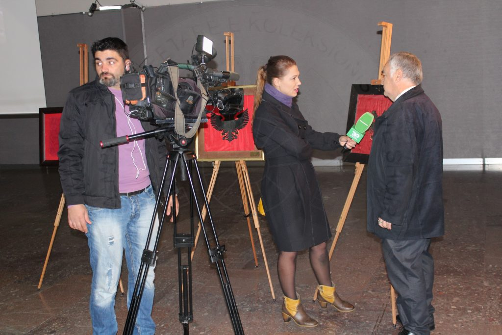 The presentation on media of QMKSH exhibition at the National Historical Museum, on 28-30 November, Top-Channel