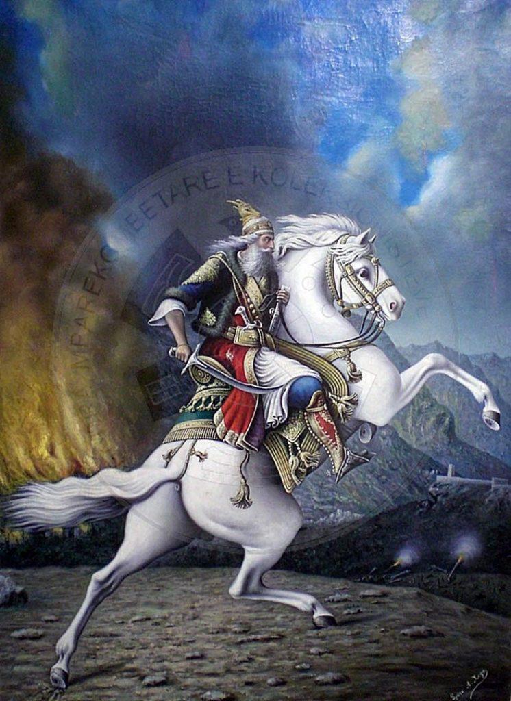 14 Dhjetor 1447, Skënderbeu përmbyll marrëveshjen me mbretin e Napolit