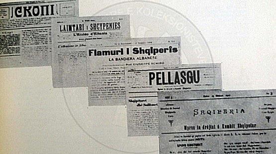 "1 January 1860, was published ""Pellazgu"" newspaper"