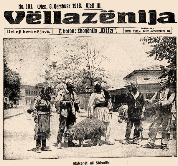 "12 January 1917, in Vienna was published the first number of the Albanian newspaper  ""Vllaznija"""