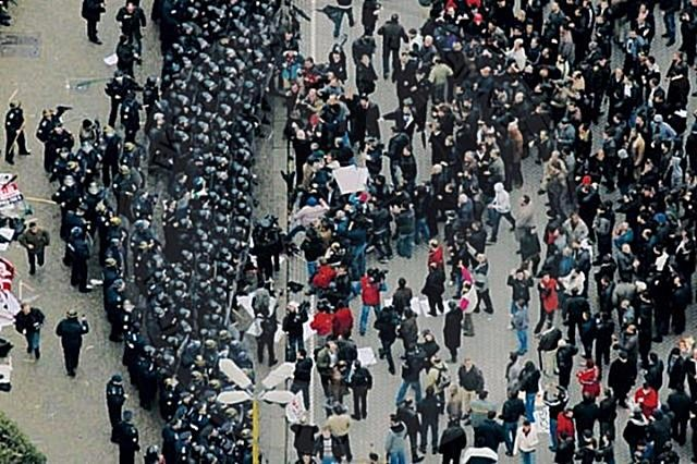 21 January 2011,  a violent protests in the boulevard; four people were murdered