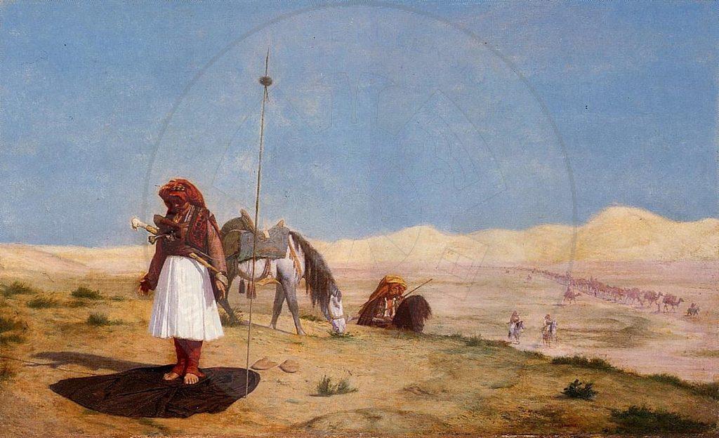 """February 2nd, 1859, the French painter Leon Jerome realized the masterpiece """"Shqiptarët duke luajtur shah"""""""
