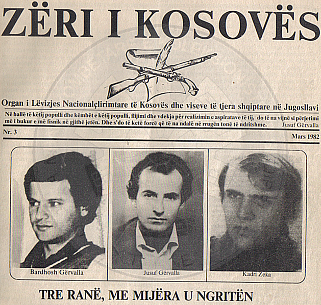 17 January 1982, are killed by the Yugoslav secret services the fighters from Kosovo