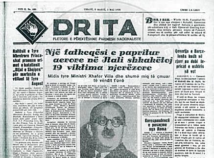 "January 3rd, 1961, was published the first number of ""Drita"" newspaper"