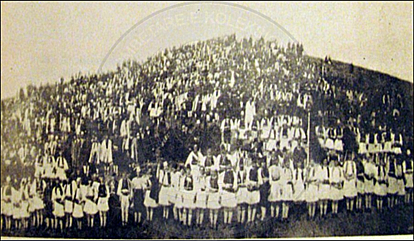 14 February 1910, held in Korça the rally of Alphabet