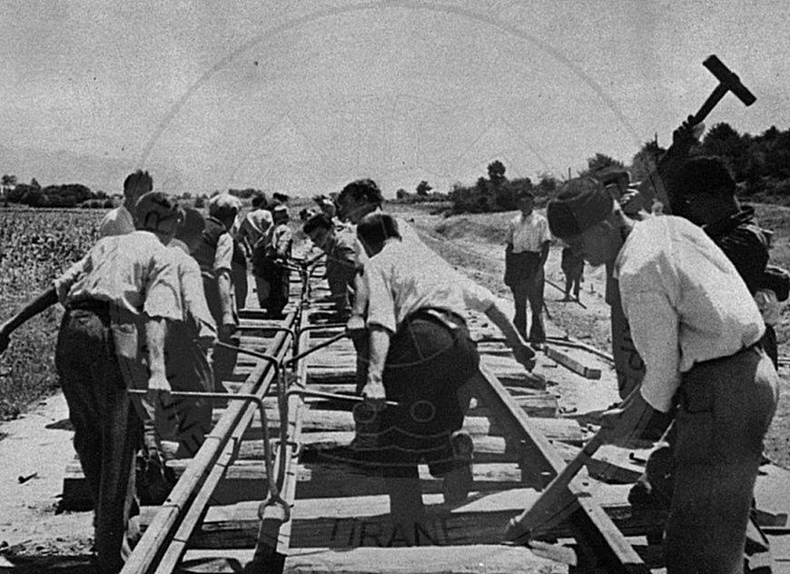 22 February 1949, was inaugurated the railway Durres-Tirana