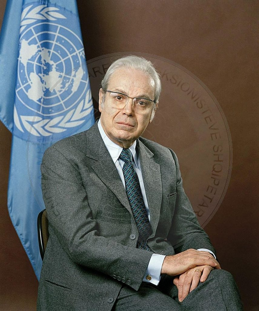 February 27th, 1979, the General Secretary of UN, Perez de Cuellar visits Albania