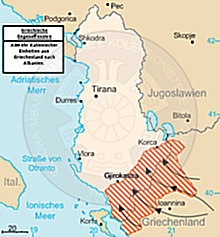 16 February 1868, the secret Greek-Serbian treaty, for the separation of Albania