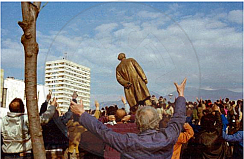 February 20th, 1991 crashed in Tirana the memorial of Enver Hoxha