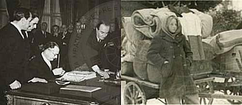 10 February 1947, was signed the peace pact with Italy