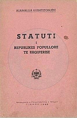 March 14th, 1946, was approved the Constitution of the People's Republic of Albania