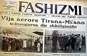 3 April 1939, on the beginning of the Italian invasion, the Albanian press was occupied by fascist propaganda