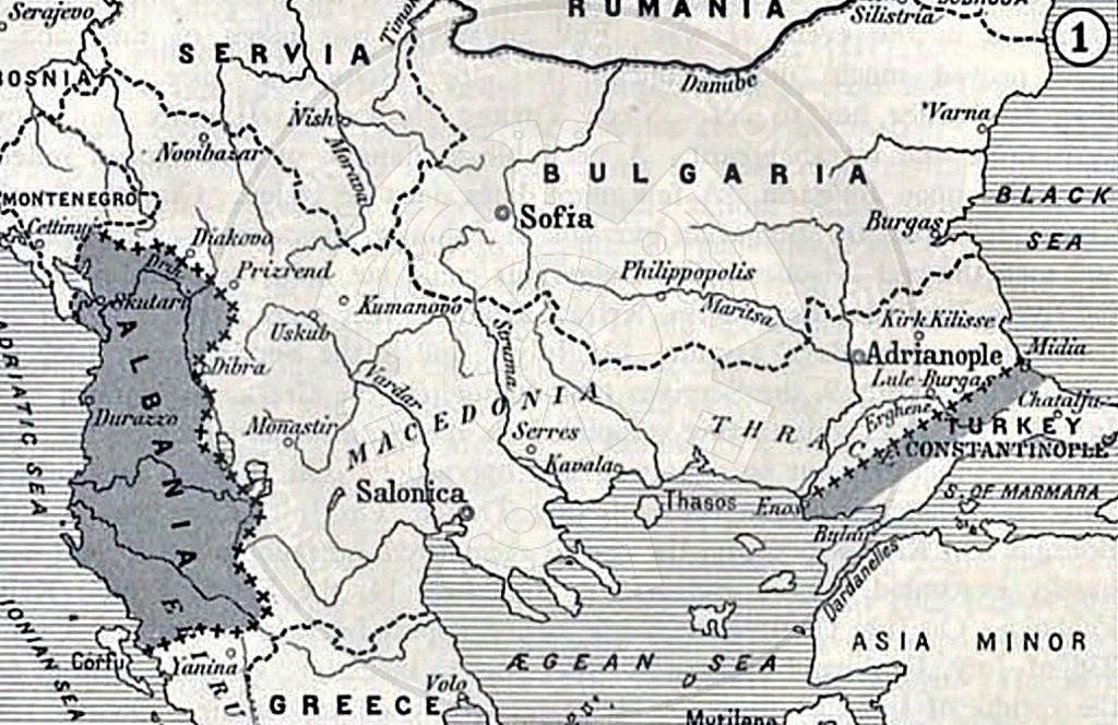 March 13th, 1912 the Slavic agreement to derive Serbia in the Adriatic Sea