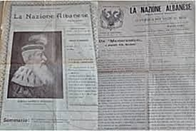 "5 April 1897, was published by the Committee of Istanbul the newspaper ""La Nacione Albanese"" in Italy"