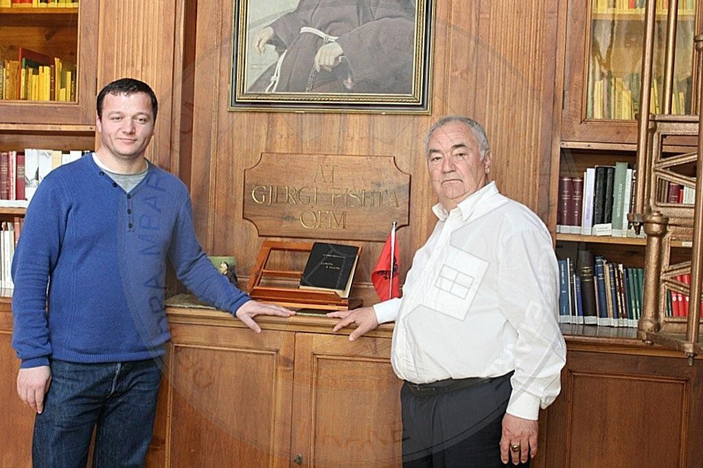 """The cooperation of Mr. Shpëtim Sala with """"Franciscan Publications"""" in Shkodra"""
