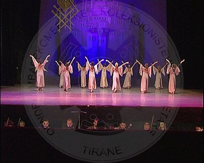 "20 March 1986, premiere in the Theatre of Opera and Ballet of the Albanian ballet ""The tenth plague of Gjergj Elez Alia"""