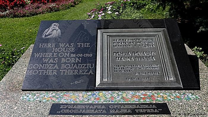 March 8th, 1998 was inaugurated in Skopje the memorial plaque of Mother Teresa
