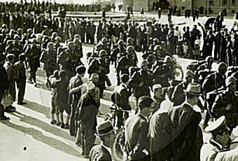 3 April 1939, the patriotic show in cinema Gloria brought strong anti-fascist demonstrations in Tirana