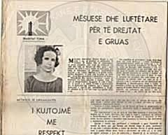 "28 March 1924, was established in Tirana the women association ""Shqiptarka"""