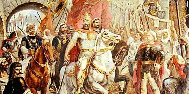 4 April 1460, Skanderbeg helps his ally Alfonso of Naples