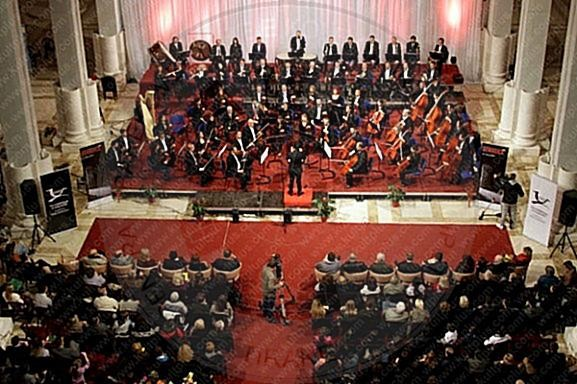 24 April 1950, was shown the first premiere of the Albanian Philharmonic