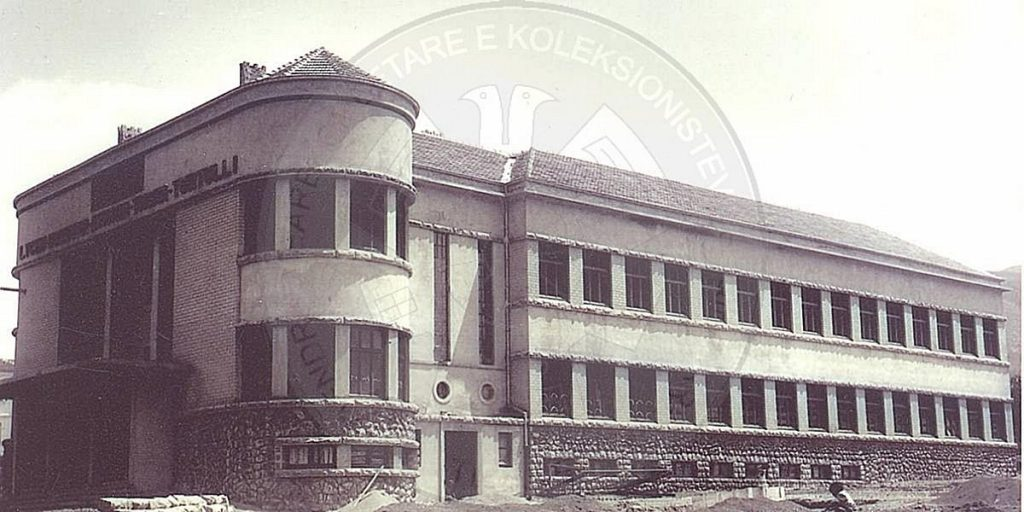 15 April 1937, the philanthropist Thoma Turtulli laid the first stone in the foundation of Korca National Lyceum building