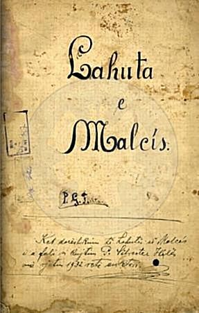 "8 April 1937, was published the full masterpiece of At Gjergj Fishta ""Lahuta e Malëcis"""