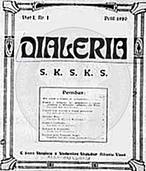 "8 April 1920, the Albanian students published in Vienna the first number of the magazine ""Djaleria"""