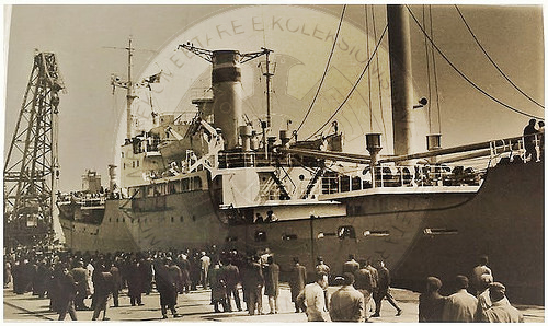 18 June 1914, in the ports of Durres and Shengjin, anchored English and French warships