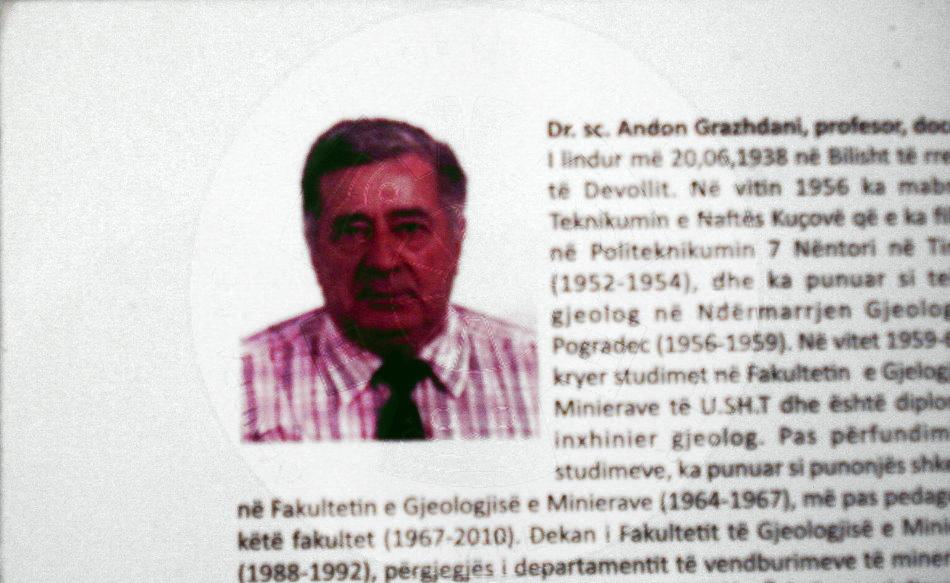 20 Qershor 1938, lindi në Bilisht të DevolIit, Andon Grazhdani, Profesor Doktor i Shkencave