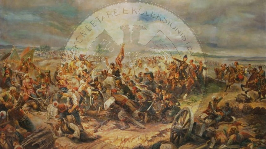 14 June 1835, in Grenas was developed a battle between the Turks and the Albanian rebels