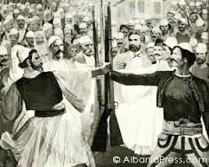 13 June 1878, the Gegenian alliance of Albanians led a protest to the Berlin Congress