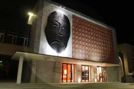 "1 July 1950, begun the artistic activity Korça Theater with the drama ""Përmbysja"""