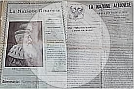 "30 June 1899, was published in the newspaper ""La Nazioni Albanese"" the memorandum that was sent to the Sultan by our emigrants in Bucharest"