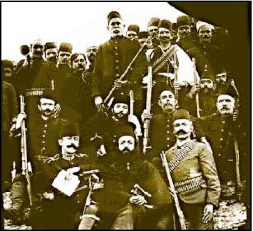 28 July 1911, Çeta of Spiro Bellkamen and Qamil Panaritit are surrounded by Orman Çiflik