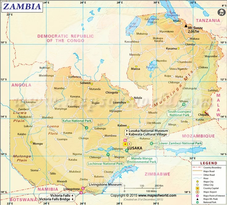 8 July 1969, were established diplomatic relations with the Republic of Zambia