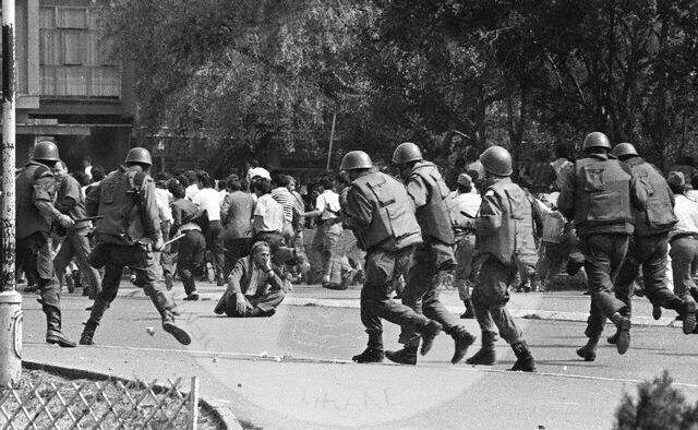 5 July 1990, the Serbian troops invade Pristina Radio Television