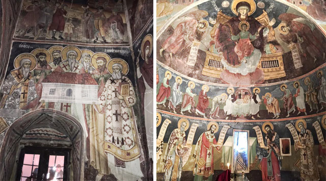 15 July 1835, Naum Katro and his nephew Gjergji painted the iconic icon in the iconostasis of St. Andrew's Church in Narte, Vlora
