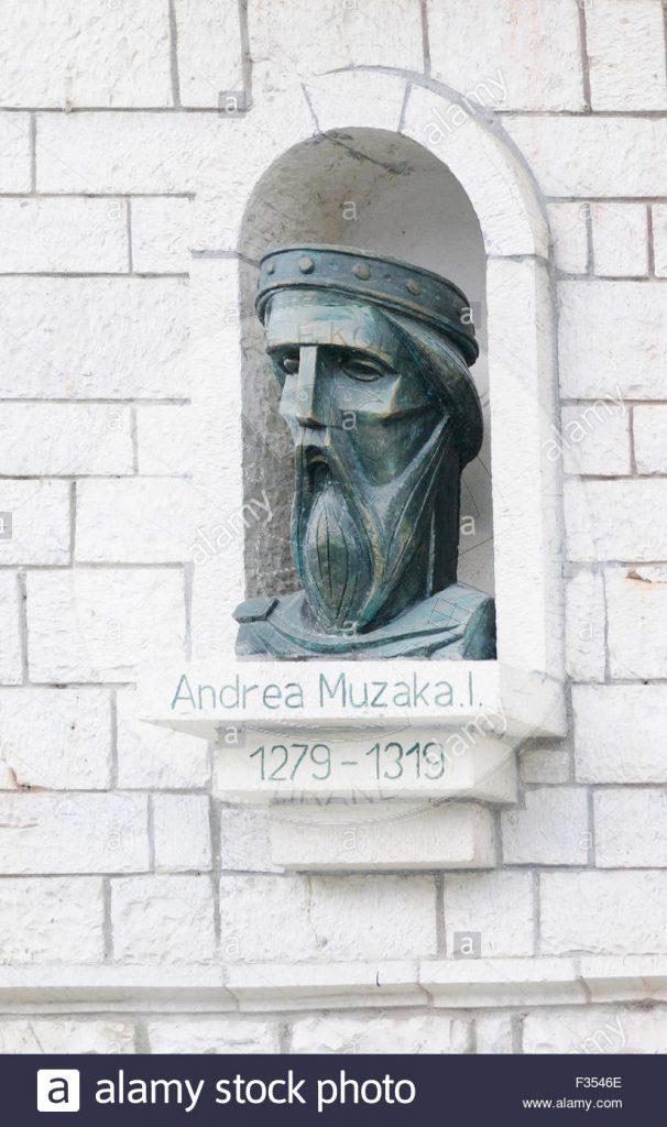 18 Korrik 1837, mbreti Robert i Siçilisë, konfirmoi paktin e lidhur midis vikarit të Dukës së Durrësit, Ludovikut dhe despotit të Arbërisë Andrea Muzakës