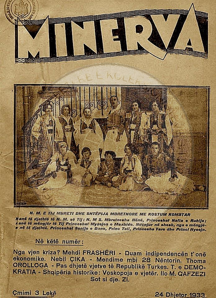 "15 August 1932, was published the first edition of the illustrated magazine ""Minerva"""