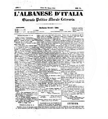 "23 August 1848, was published the first number of the newspaper ""Albanian of Italy"" in Napoli of Italy"