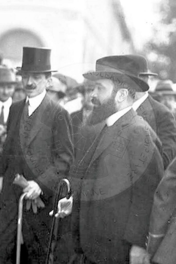 22 August 1924, Fan Noli together with Luigj Gurakuqi and Bajram Currin participate in the League of Nations Assembly